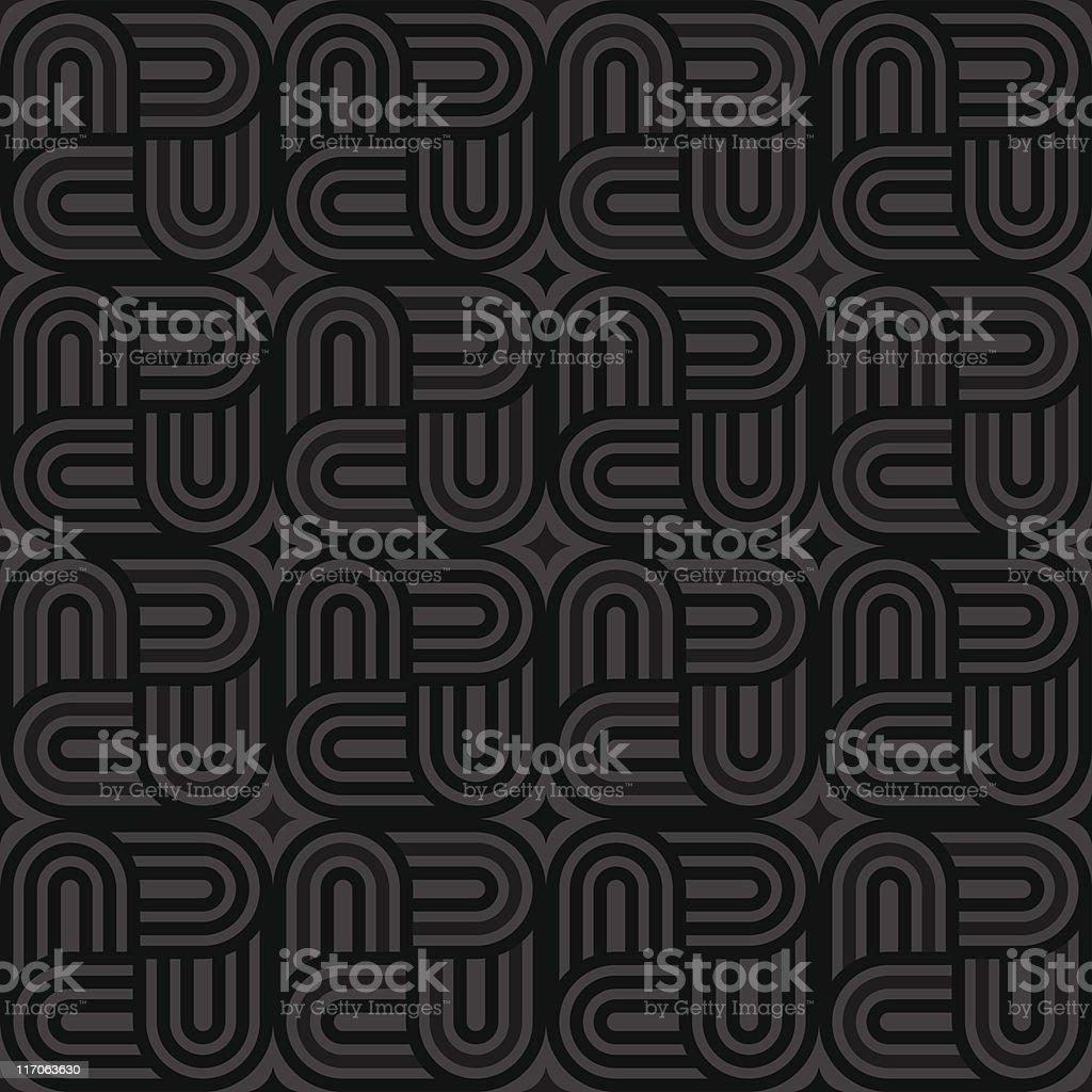Black Geolock Pattern (Seamless) royalty-free stock vector art