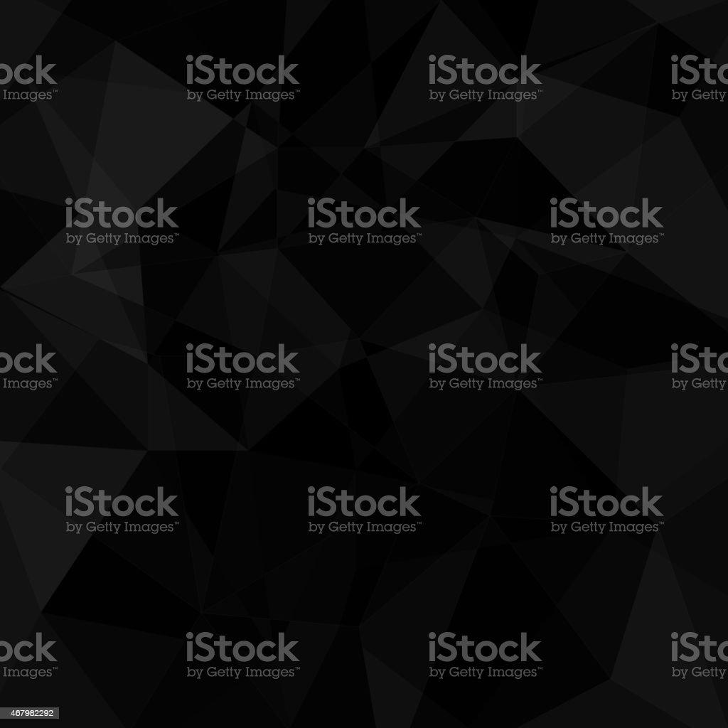 Black geometric triangle background vector art illustration