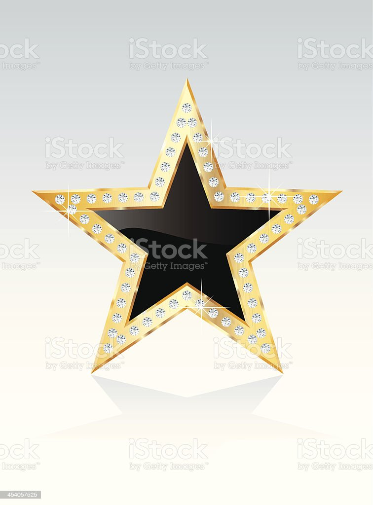 black golden star royalty-free stock vector art