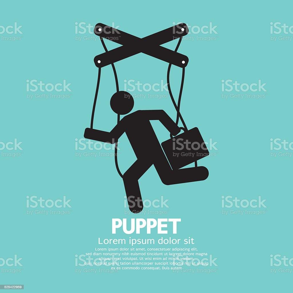 Black Graphic Single Puppet Doll Vector Illustration vector art illustration