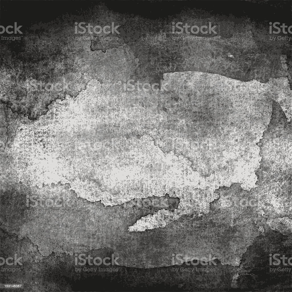 Black gray watercolor texture paper grunge dirty background vector art illustration