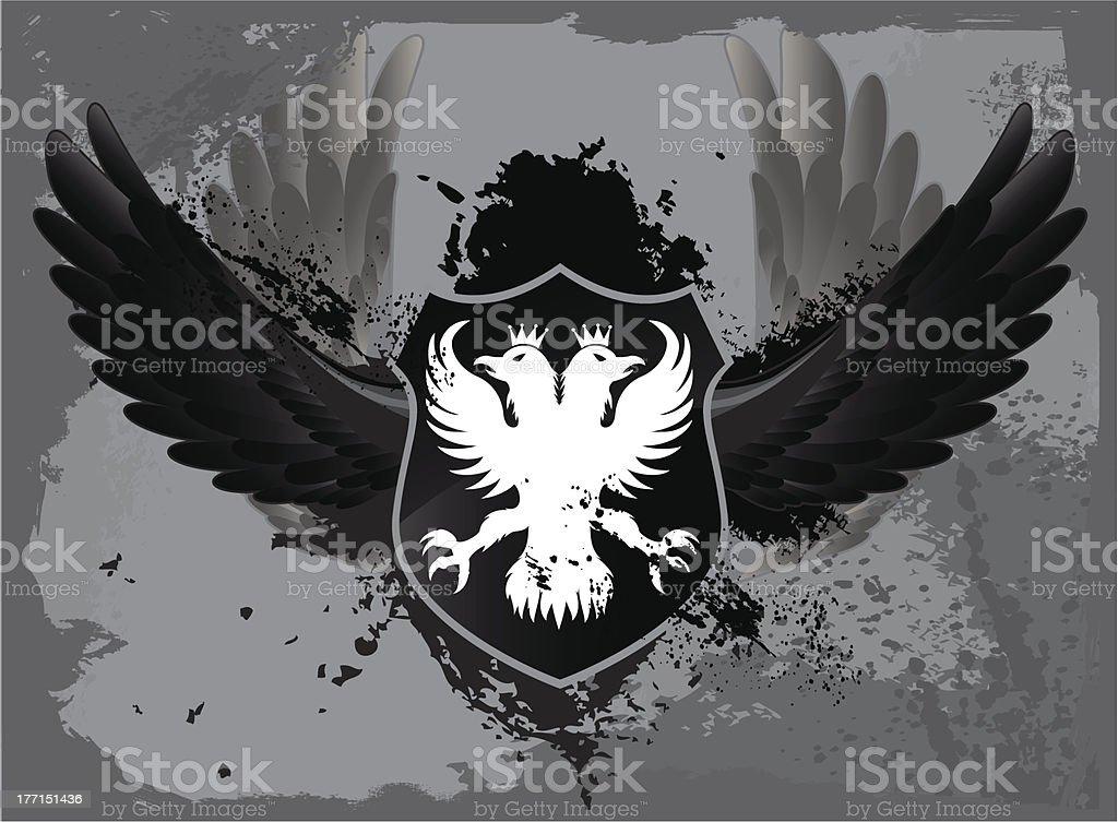 Black Grunge Shield royalty-free stock vector art