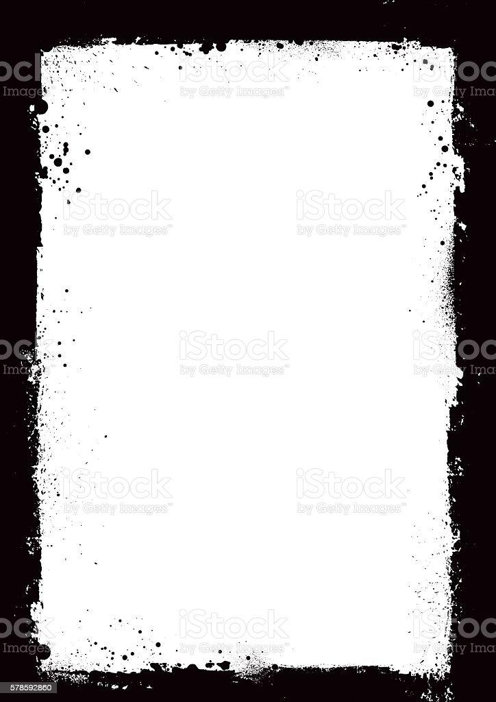 black grunge vector frame or border vector art illustration