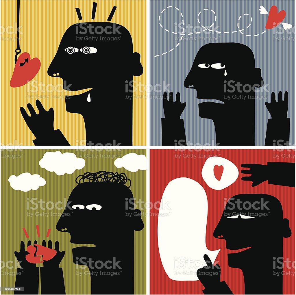 Black head man #3. royalty-free stock vector art