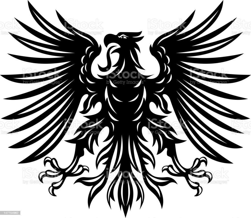 Black heraldic eagle royalty-free stock vector art
