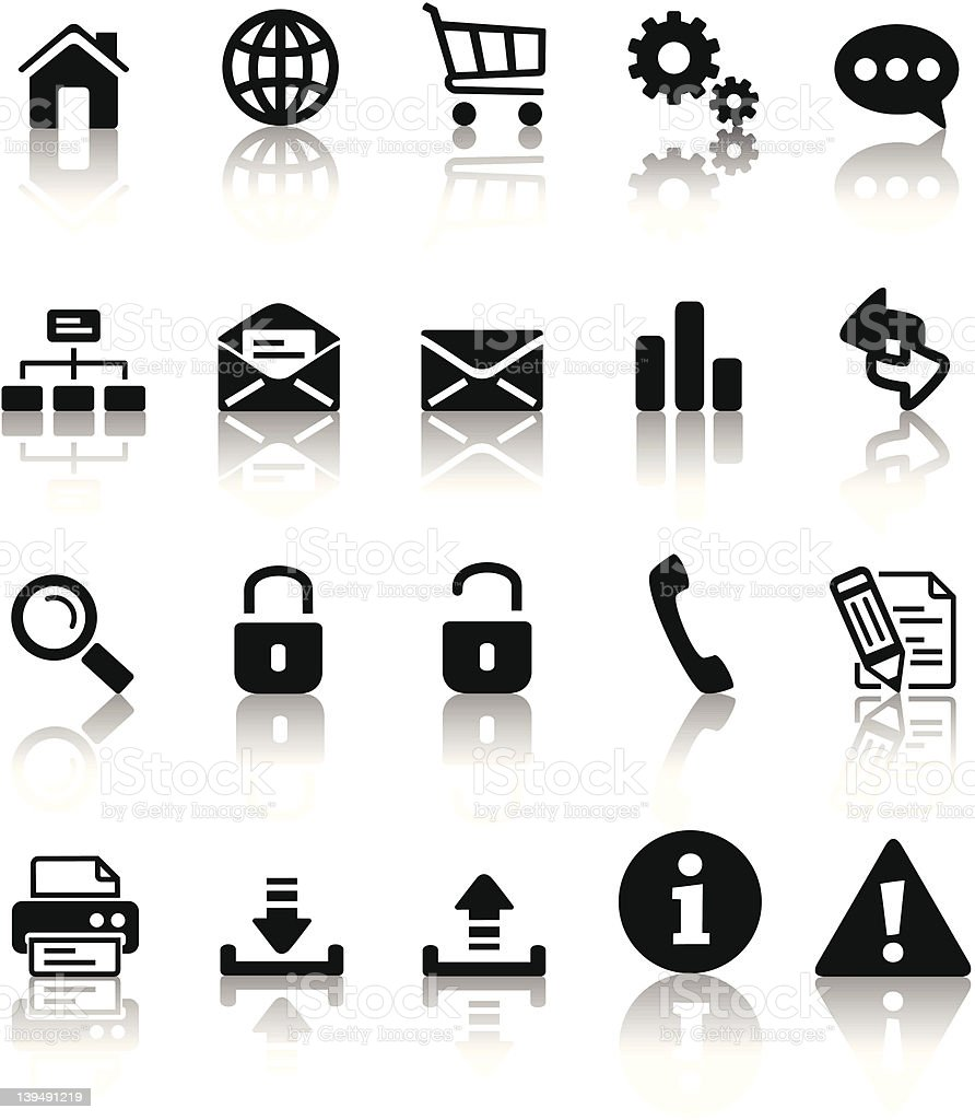 black icon set royalty-free stock vector art