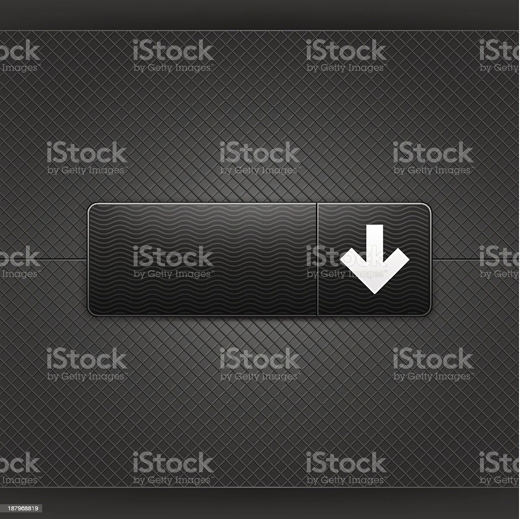 Black icon with arrow down pictogram web internet button royalty-free stock vector art