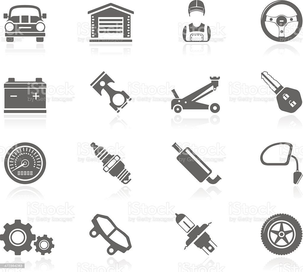 Black Icons - Car Maintenance royalty-free stock vector art