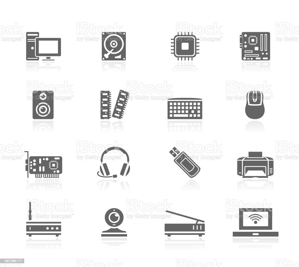 Black Icons - Computer royalty-free stock vector art