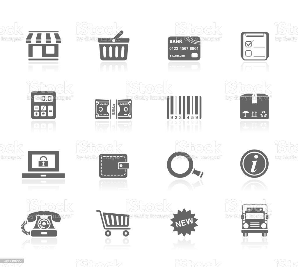 Black Icons - Shopping royalty-free stock vector art