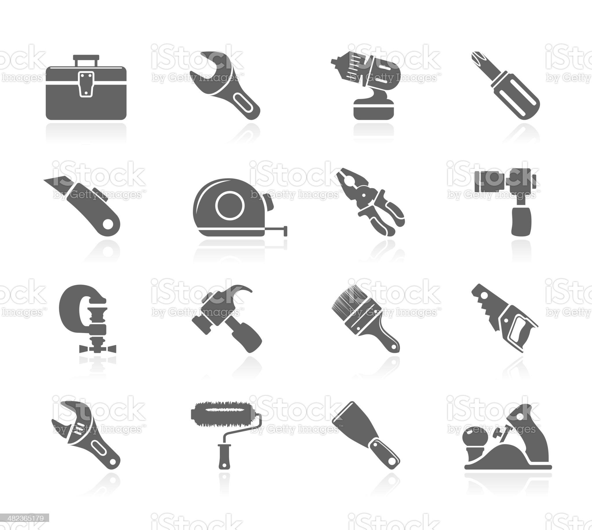 Black Icons - Tools royalty-free stock vector art