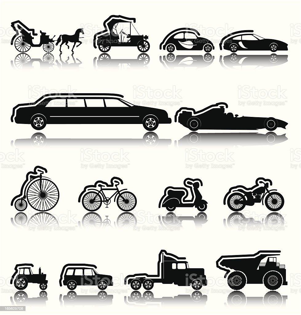 Black Icons vector art illustration