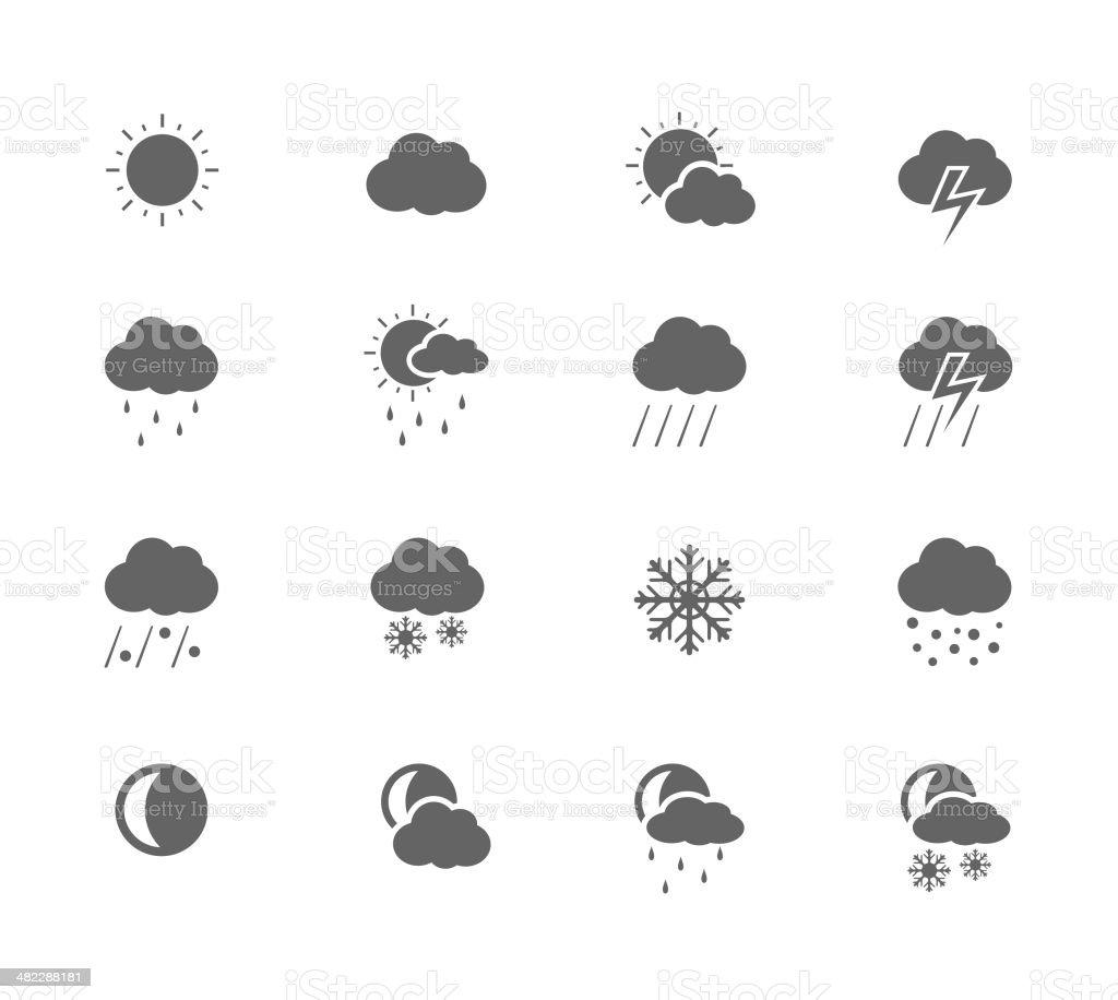 Black Icons - Weather vector art illustration