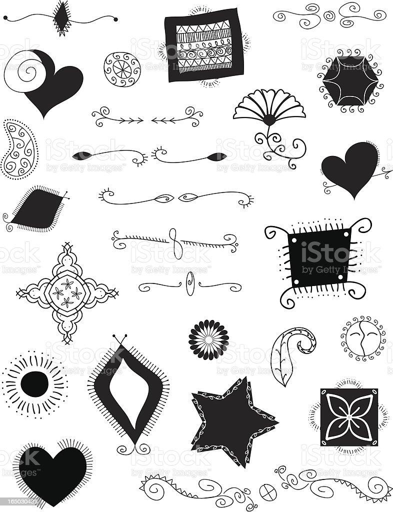 Black Ink Designs - Vector royalty-free stock vector art