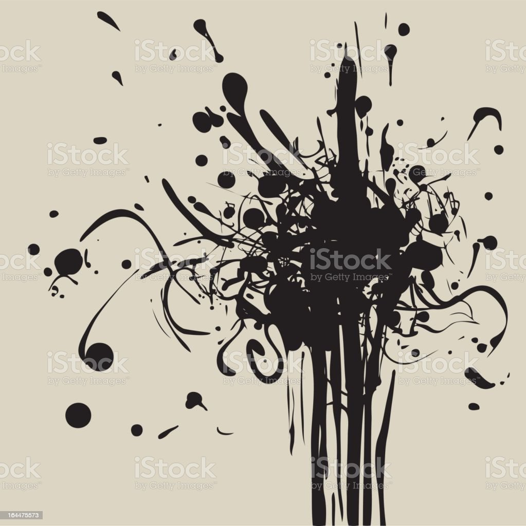 black ink royalty-free stock vector art