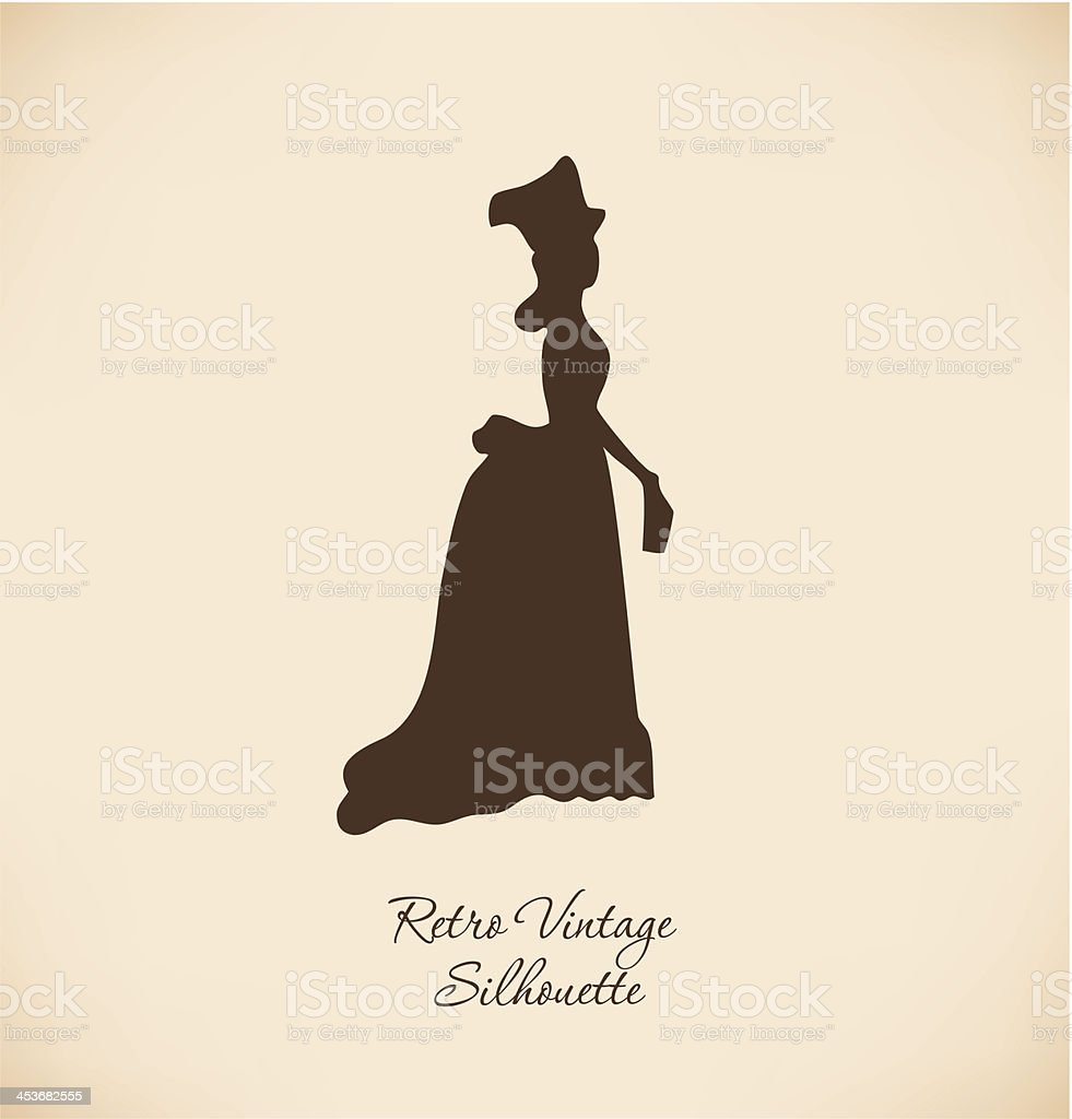 Black isolated woman silhuette vector art illustration