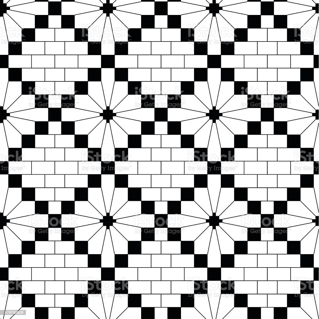 Black knitting pattern vector art illustration