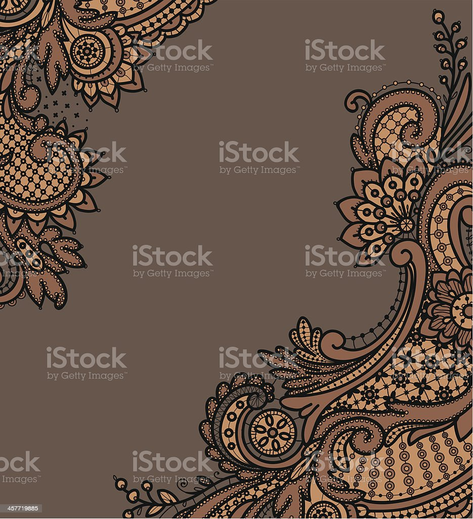 Black Lace Backgrounds. Corners. royalty-free stock vector art