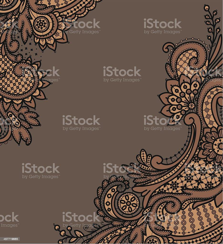Black Lace Backgrounds. Corners. vector art illustration