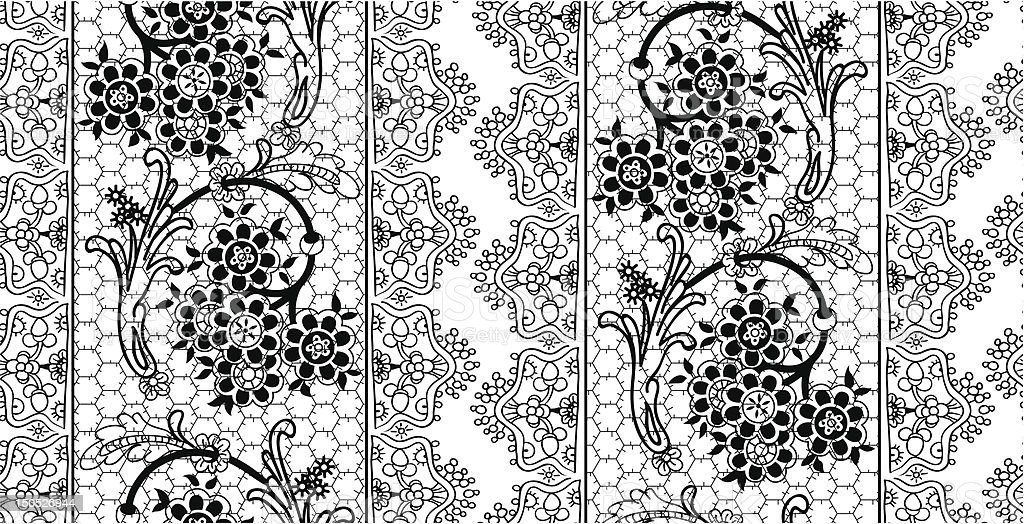 Black Lace pattern royalty-free stock vector art
