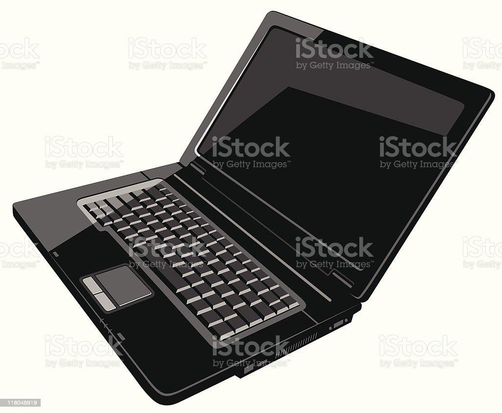 black laptop royalty-free stock vector art