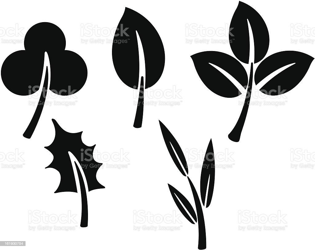 black leaves. Vector royalty-free stock vector art