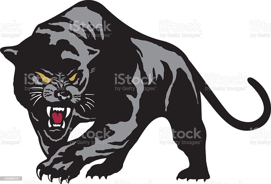 Black Leopard royalty-free stock vector art