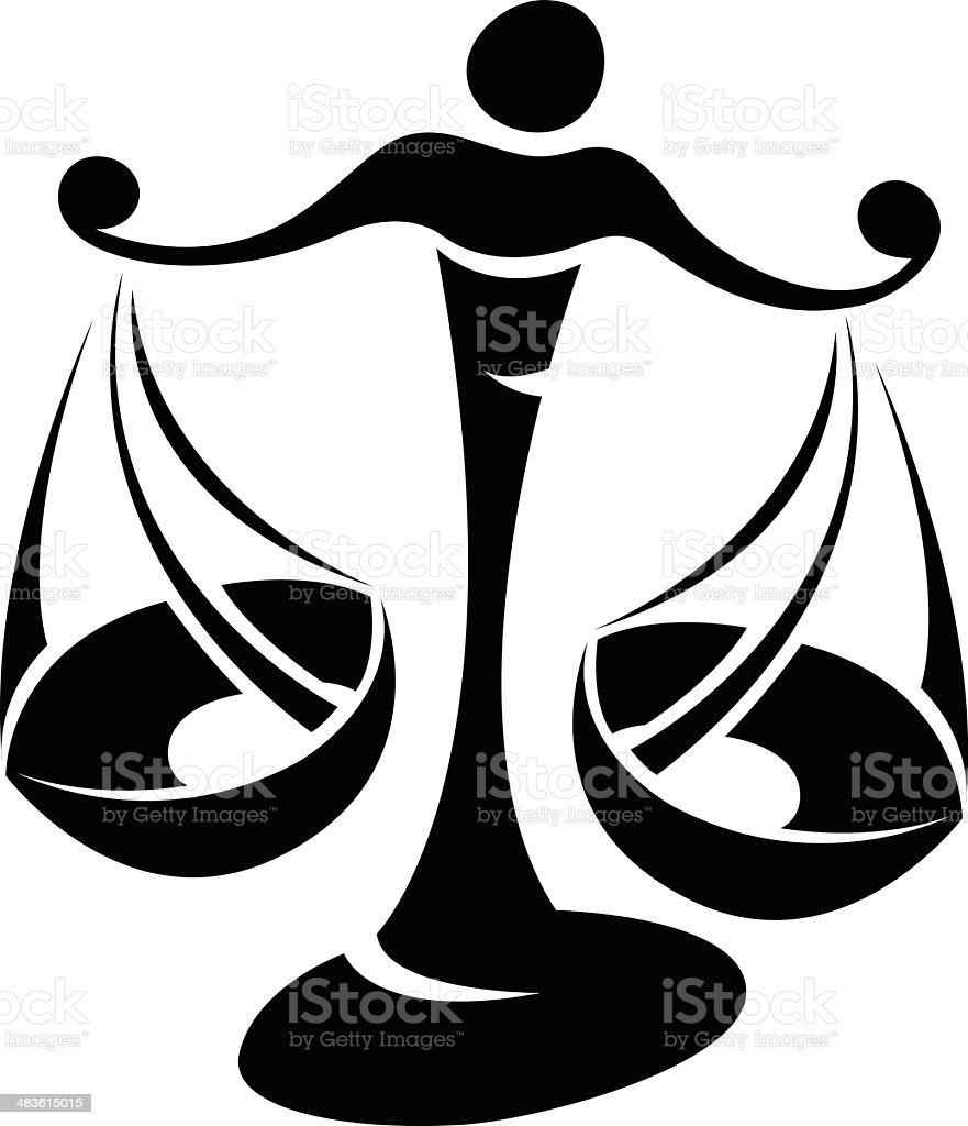 Star noir Libra signe Symbole stock vecteur libres de droits libre de droits