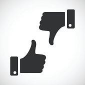Black like and dislike icons set