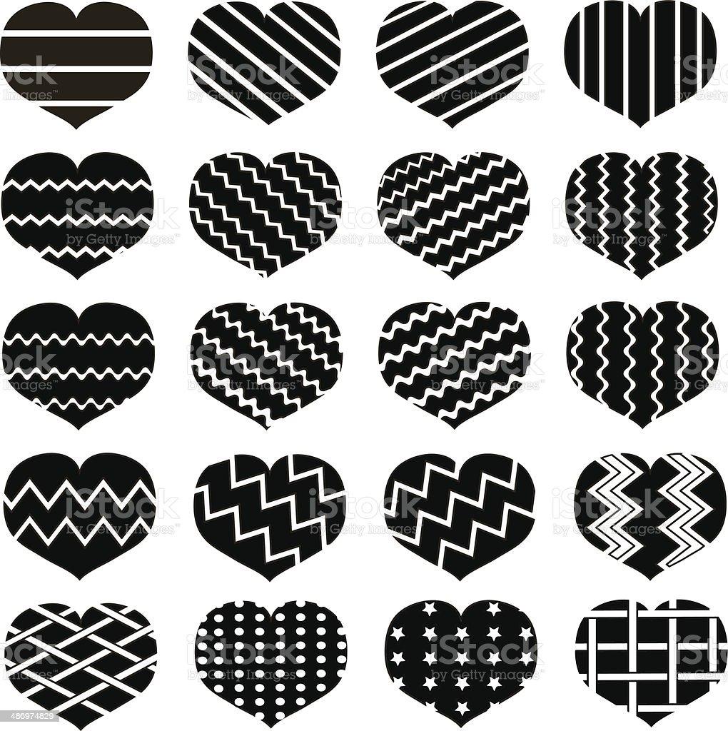 black loving heart icon royalty-free stock vector art
