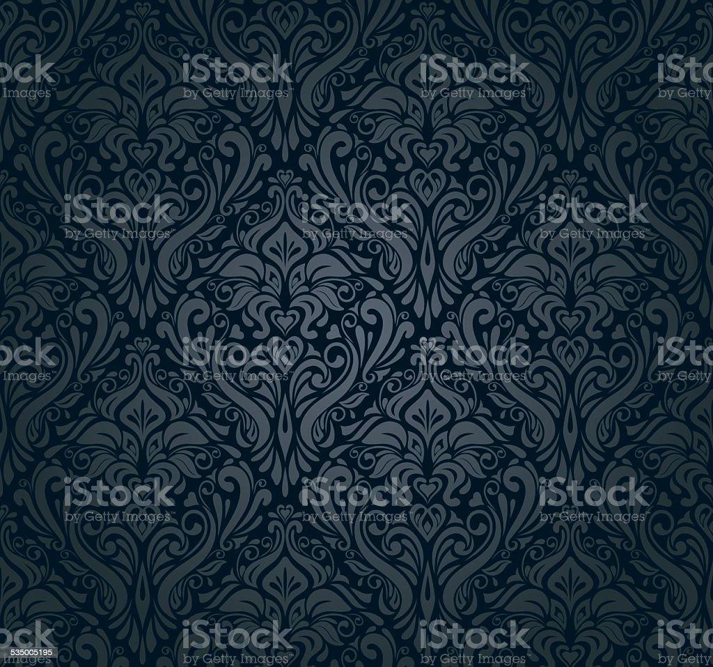 Black luxury pattern vintage background vector art illustration
