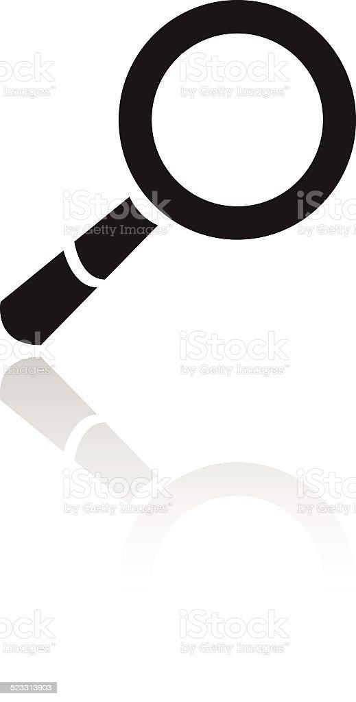 Noir loupe stock vecteur libres de droits libre de droits