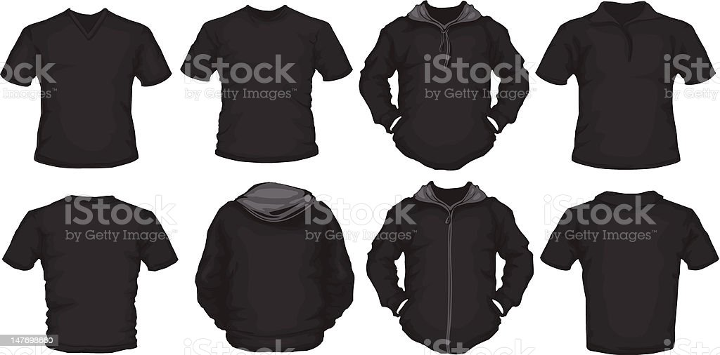 black male shirts template royalty-free stock vector art