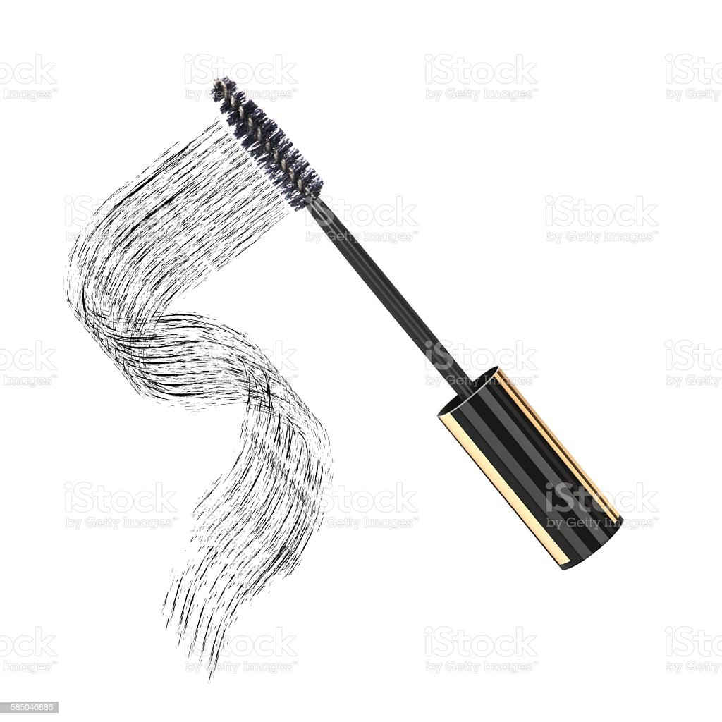 Black mascara on white background, vector art illustration