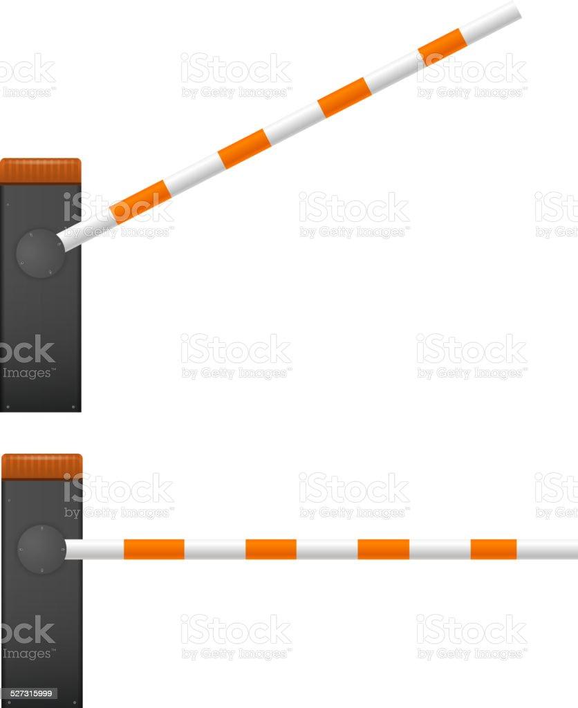 Black Mechanical barrier vector art illustration