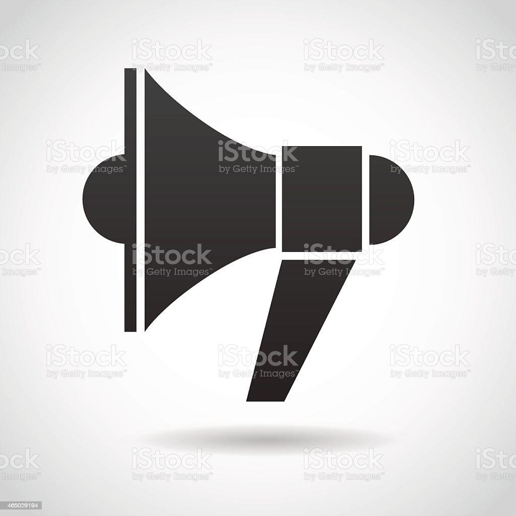 Black megaphone vector icon isolated on white background vector art illustration
