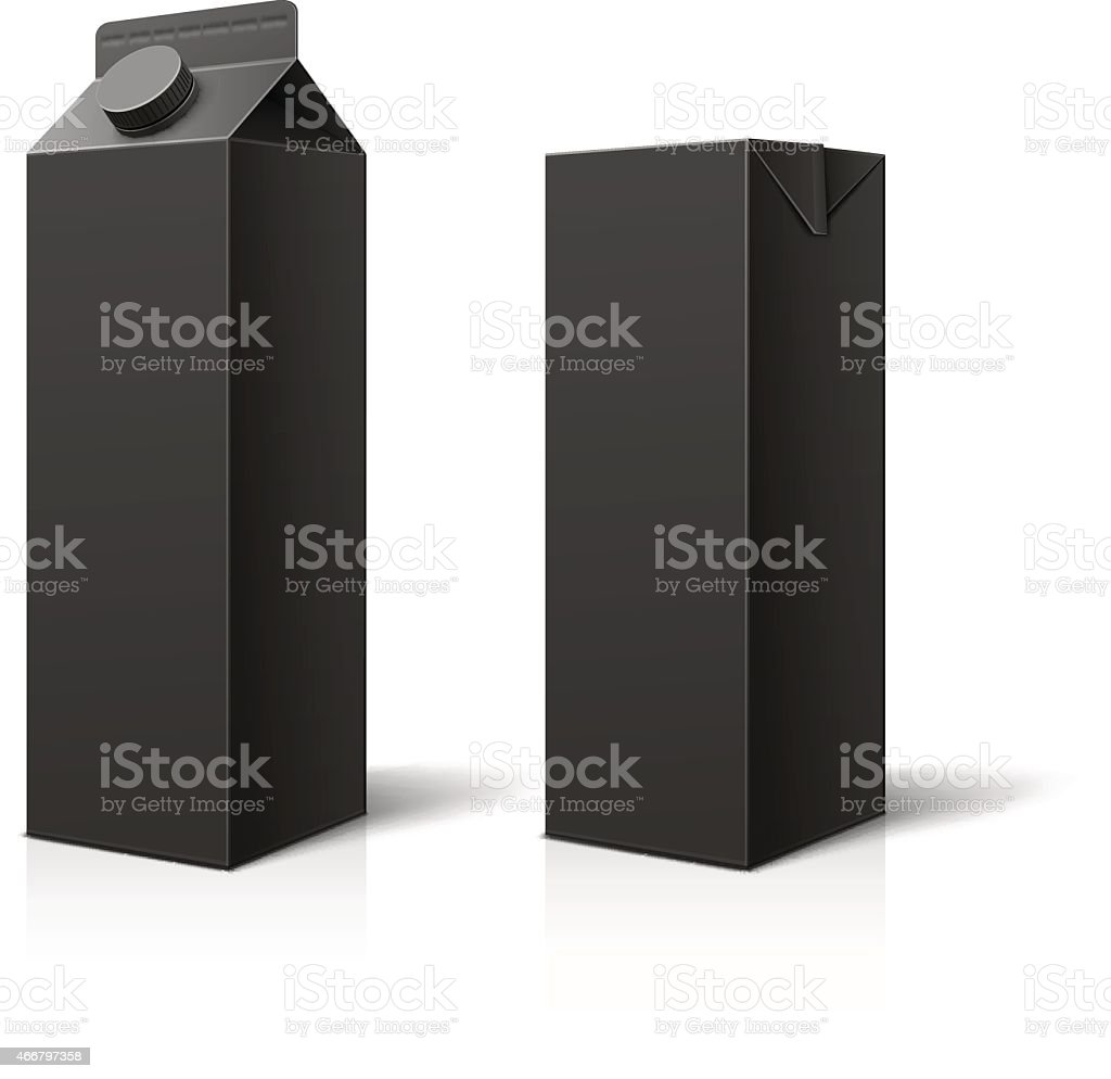 Black Milk or Juice Package vector art illustration