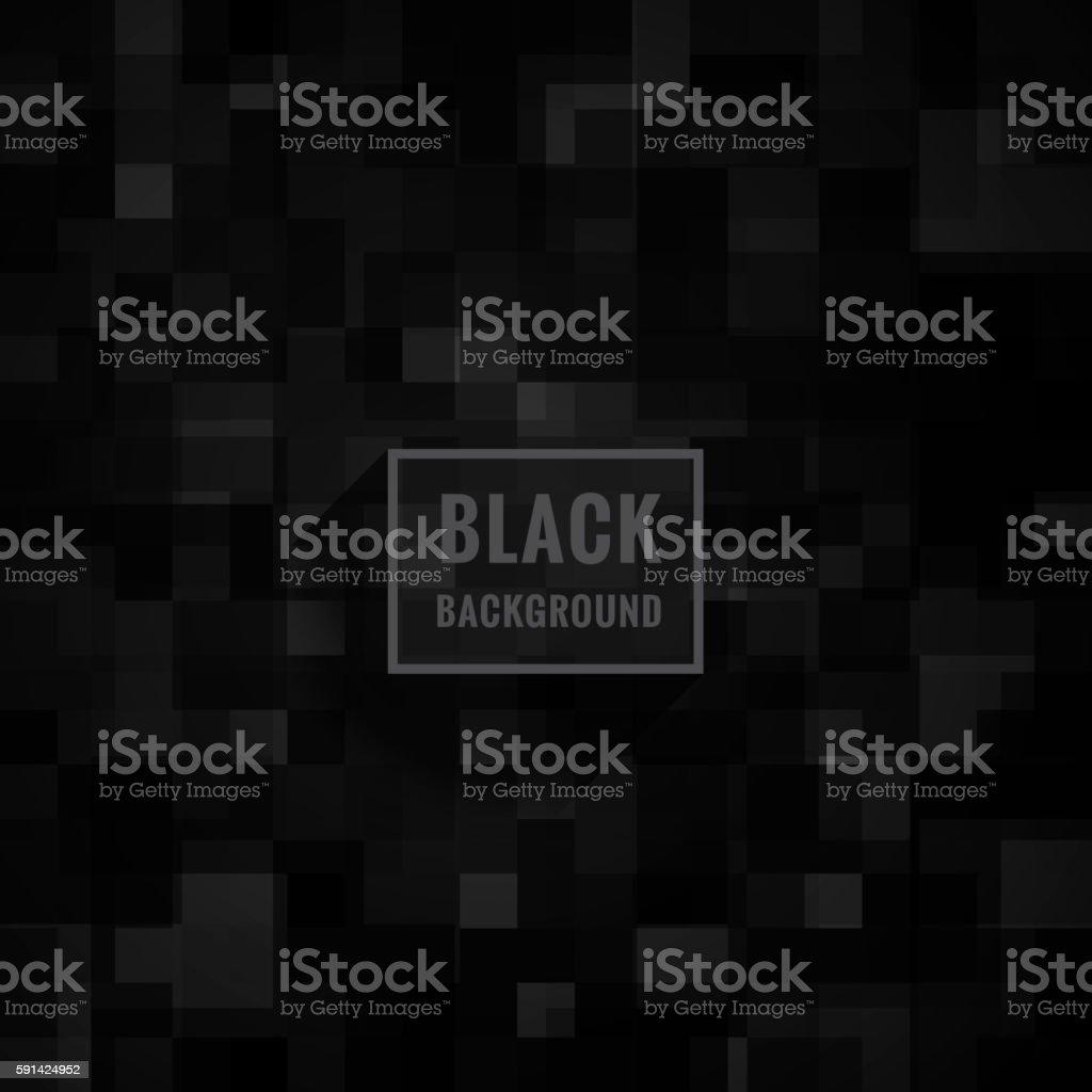 black mosaic background vector art illustration