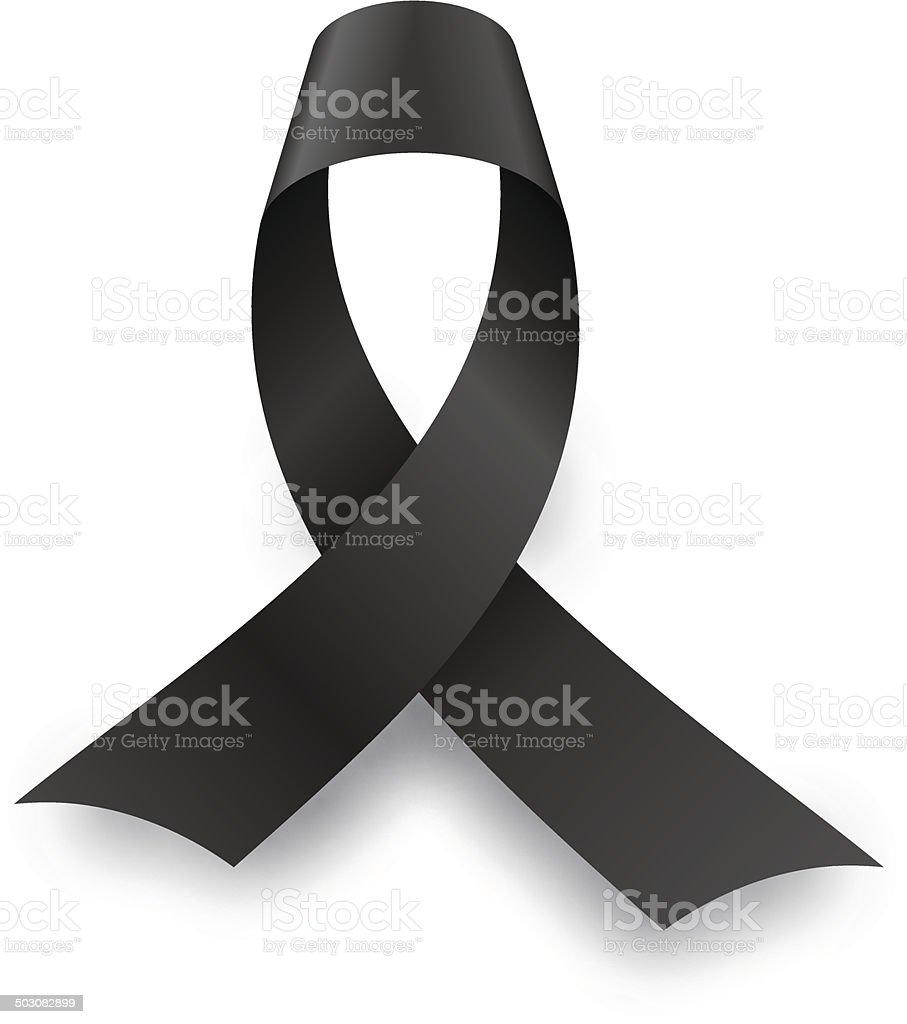 Black mourning knot vector art illustration