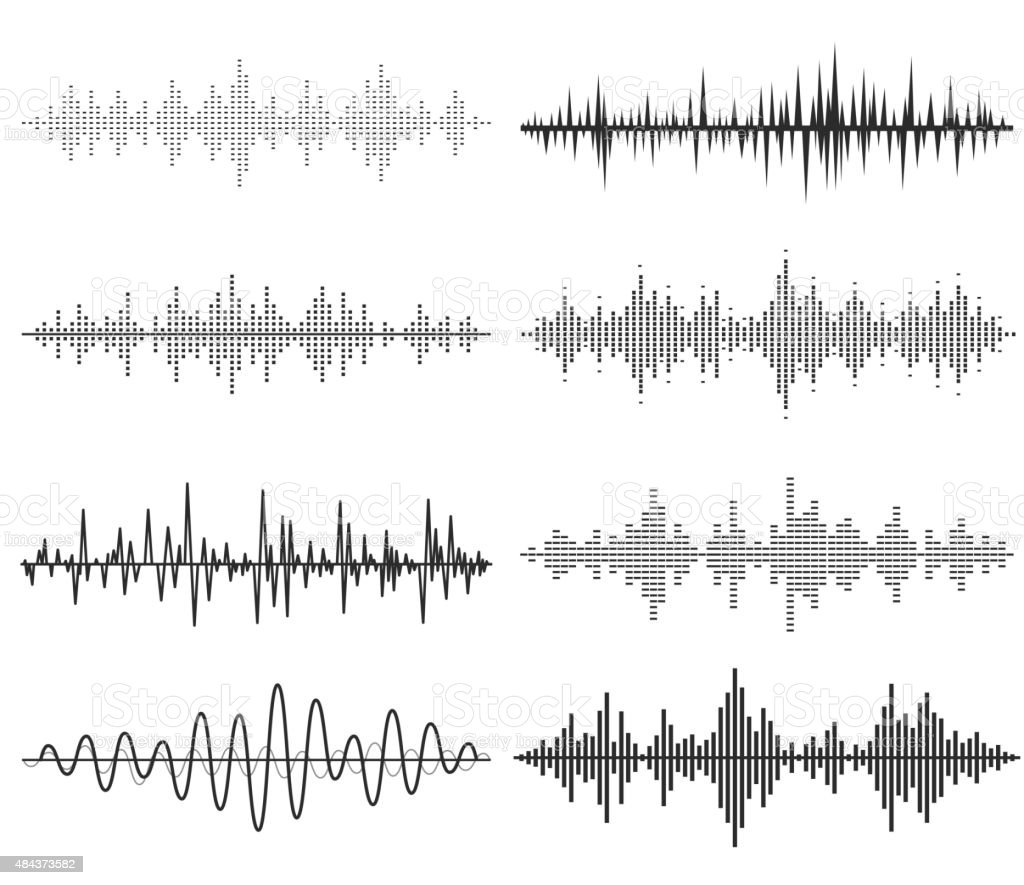 sound wave clip art vector images u0026 illustrations istock
