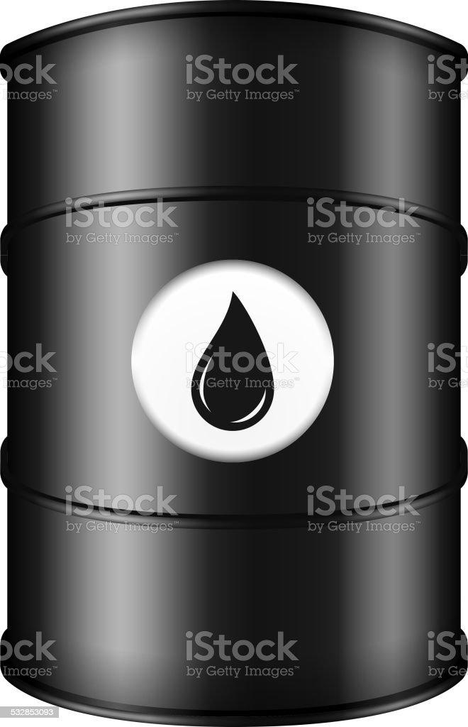 Black Oil Barrel vector art illustration