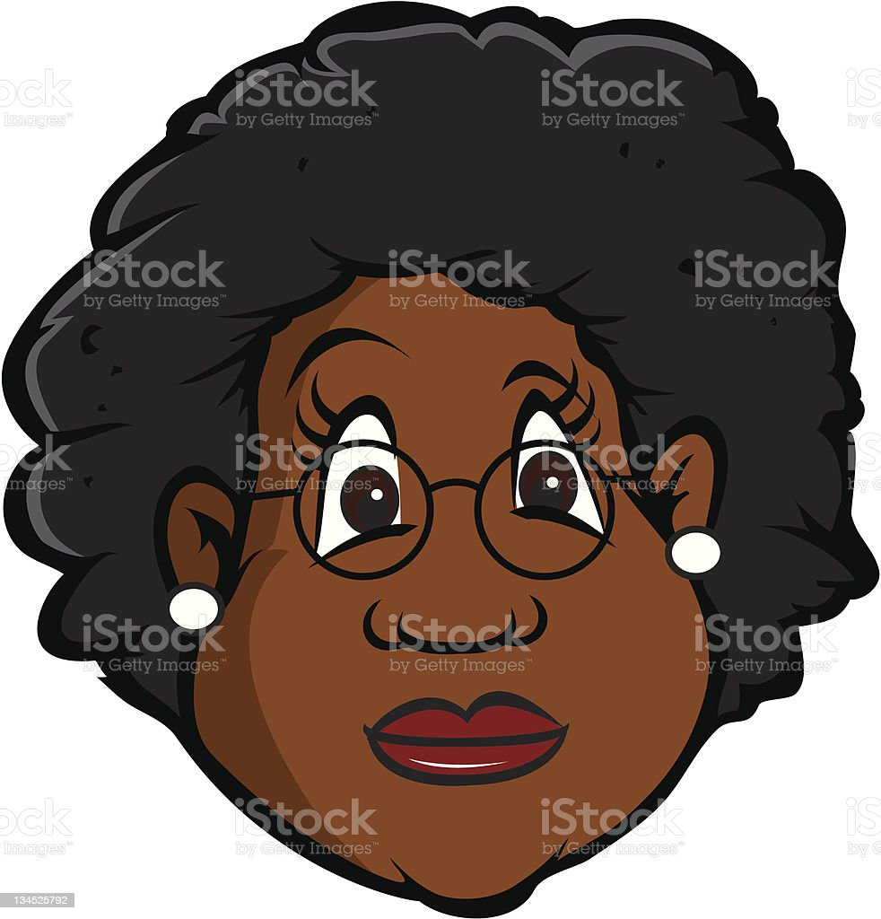 black old lady royalty-free stock vector art