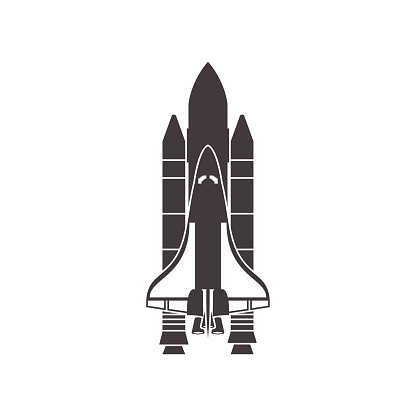 Space Shuttle Black And White