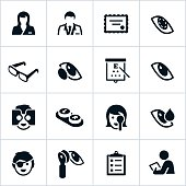 Black Optometry Icons