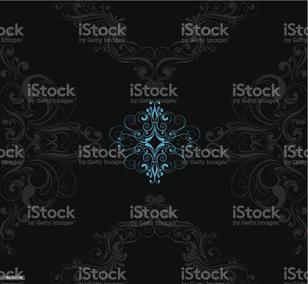 Black pattern background royalty-free stock vector art