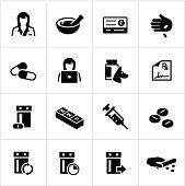 Black Pharmacy Icons