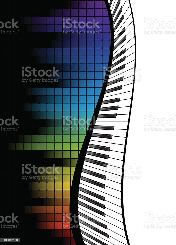 black piano template vector art illustration
