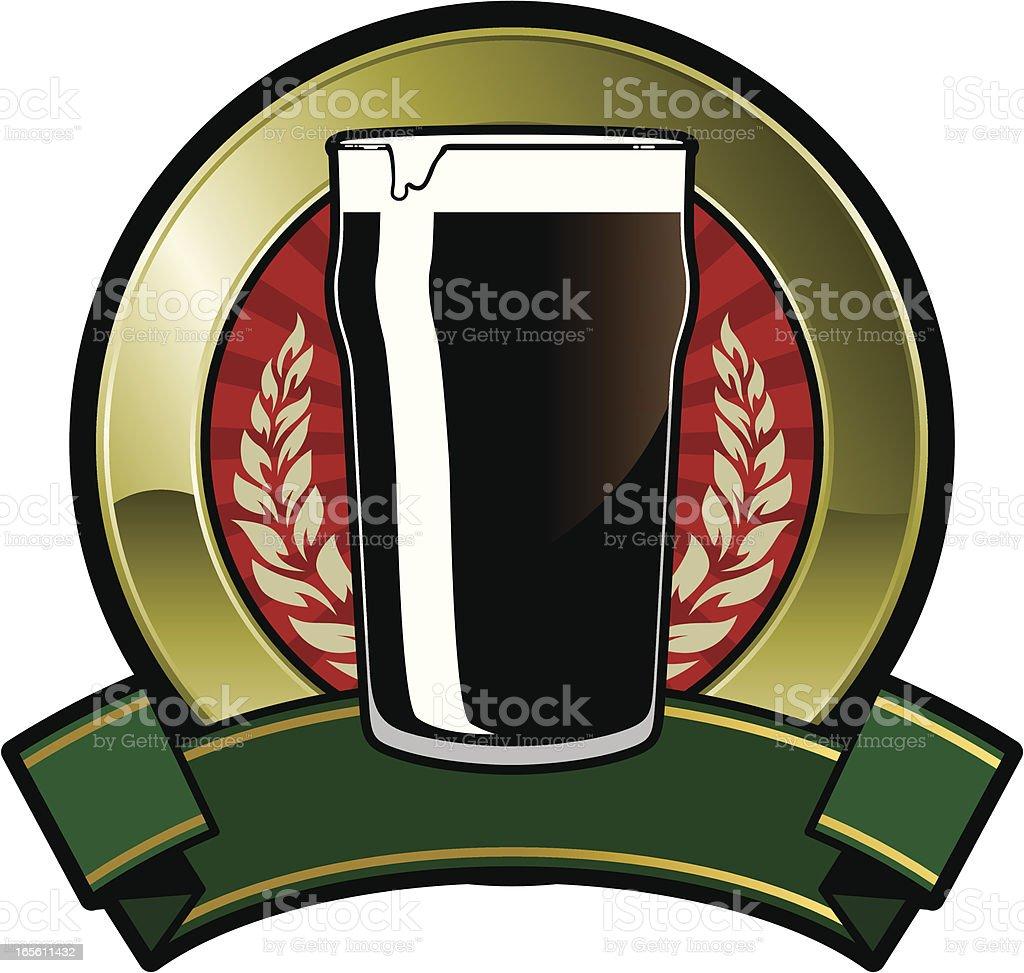 black pint emblem royalty-free stock vector art