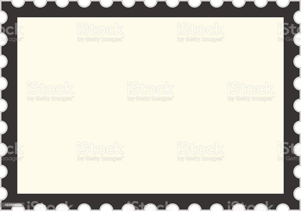 black postage stamp template vector art illustration