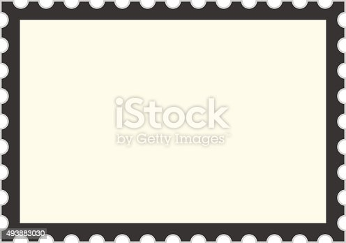 Black Postage Stamp Template Stock Vector Art 493883030 | Istock